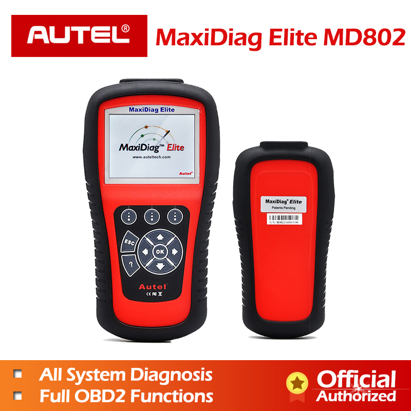 AUTEL MaxiDiag 802 Elite MD802 PK MD805 Diaglink Diagnostic Tool OBDII code reader scanner OBD 2  Full system automotive scanner