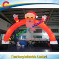 Free shipping!led light 8x5m inflatable arch,inflatable christmas arches,santa claus inflatabel arch with led light