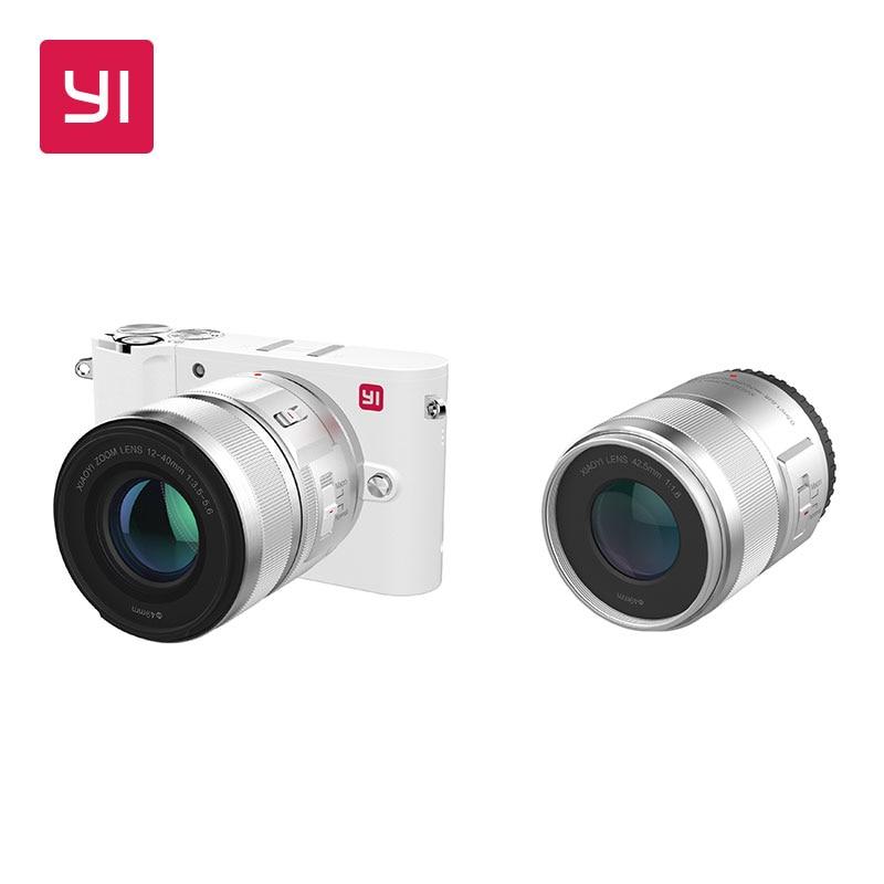YI M1 Spiegellose Digital Kamera Prime Zoom Zwei Objektiv LCD Minimalistischen Internationalen Version 20MP Video Recorder 720RGB Digital Cam