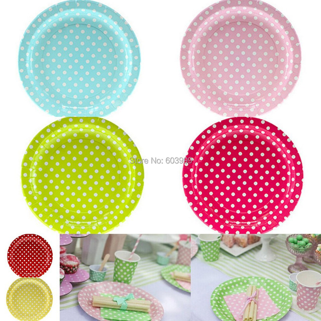 200 pkt x 10 Colours STYLISH PARTYWARE Polkadot Round Party Plates 9 inch picnic large paper  sc 1 st  AliExpress.com & 200 pkt x 10 Colours STYLISH PARTYWARE Polkadot Round Party Plates 9 ...