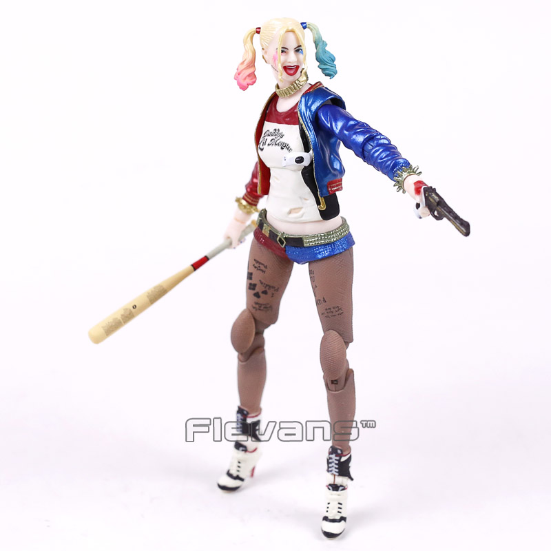 где купить Crazy Toys Suicide Squad Harley Quinn / Joker 1/12th Scale Movable Joints Action Figure Collectible Toy 7inch 18cm по лучшей цене