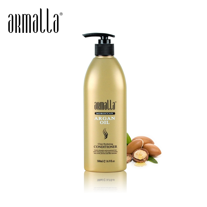High Grade Armalla 500ml Moroccan Argan Oil Conditioner Fresh Moisturizing Cream Repair Damaged Split Frizzy Hair Free Shipping image