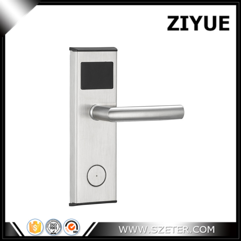 Free Software Cheapest Electronic RF Card Digital Smart Electronic RFID Card Key Hotel Door Locks ET100RF-B high class digital electronic rfid card hotel door handle locks with master card key options et820rf