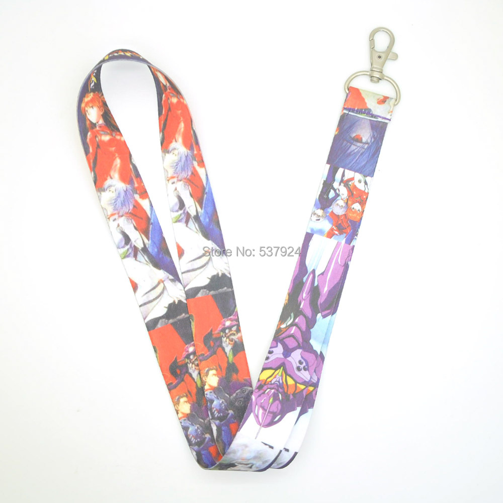 New EVA Neon Genesis Evangelion Key ID Card Cell Phone Neck Strap Lanyard CPPY-in Action & Toy Figures from Toys & Hobbies