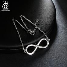 AAA Brilliant Austrian CZ Infinity Design Silver Color Bracelet for Women