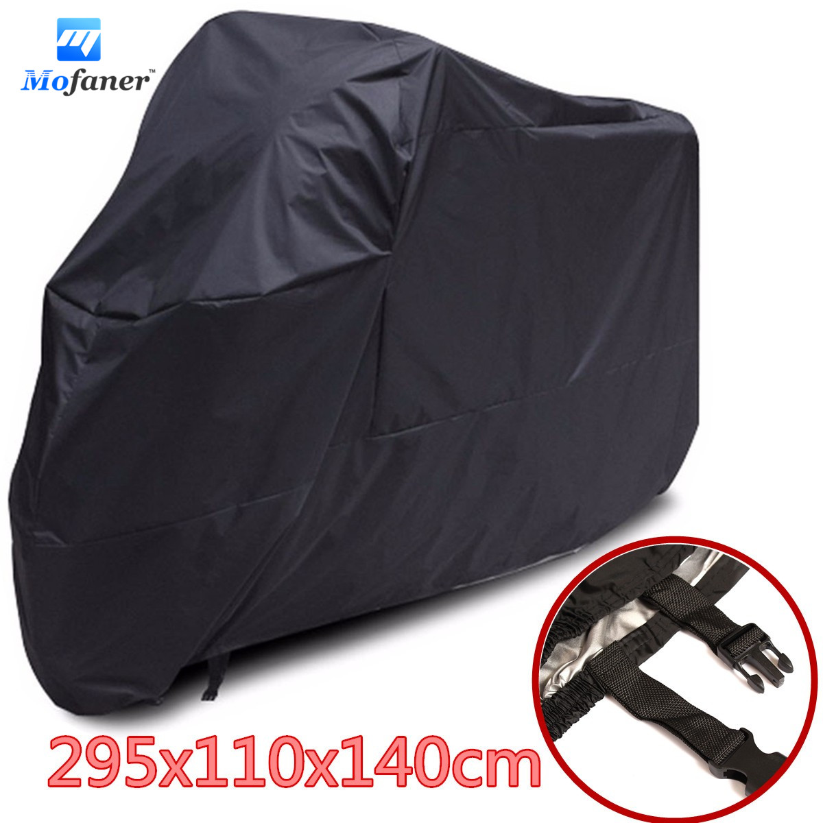 XXXL Motorcycle Cover Universal Black Waterproof UV Protection 295x110x140cm Motocycle Cover For Harley-Davidson Street