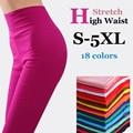 {Guoran} женщины высокая растянуть хлопка леггинсы 18 конфеты цвет дамы высокой талии плюс размер карандаш брюки S-5XL женский леггинсы