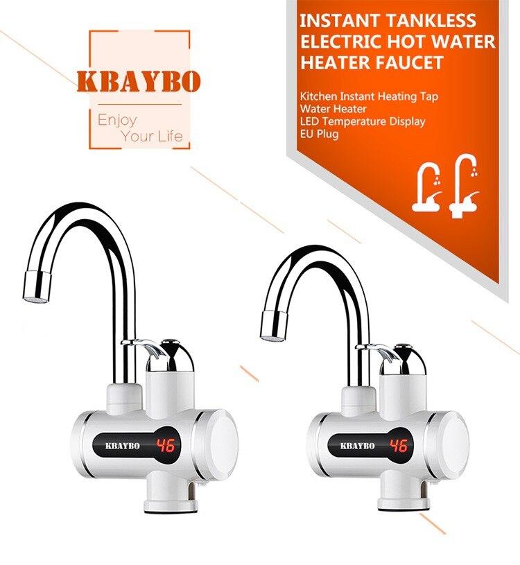 Novo aquecedor de água instantâneo tankless torneira