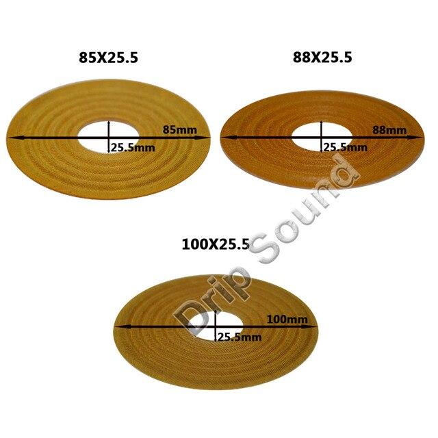 2pcs 85x25.5/88x25.5/100x25.5mm Elastic Wave Loudspeaker Subwoofer Woofer Bass Speaker Repair Spider Damper