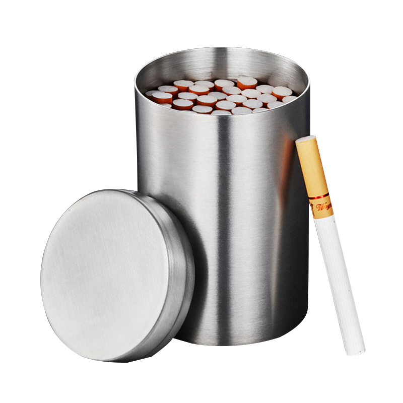 304 Stainless Steel Storage Jars Tea Pot Cigarette Cobacco Tobacco Cans Portable Case Coffee Beans Canisters Bottles Drug Pills