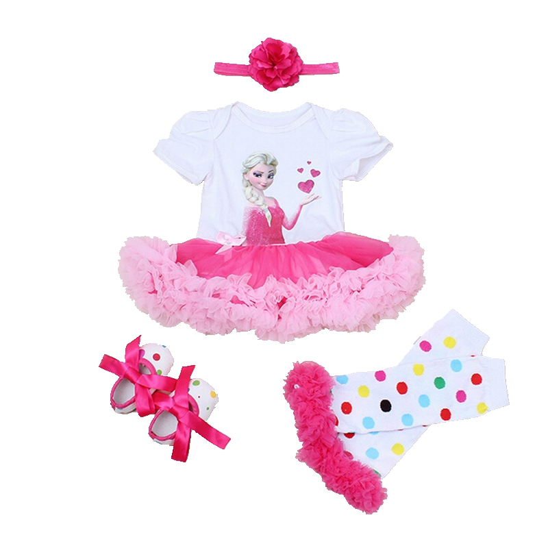 Princess Toddler Birthday Outfits Baby Girl Summer Clothes Lace Romper Dress Headband Leg Warmers Crib Shoes Newborn Tutu Sets 3d love baby girl valentine day clothes heart toddler lace romper dress bow headband set vestido bebe wedding party outfits