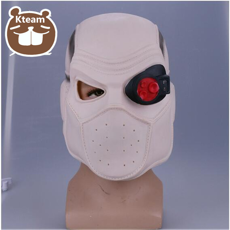 Top Grade brillant Suicide Squad Cosplay Deadshot casque masque Cosplay Freud Lawton avec casque léger Prop Halloween fête Cosplay