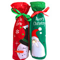 Delicate Christmas Gift Bag Toys Red/ Green Available Snow Man Pattern Embroidery Non-woven Fabric Toys