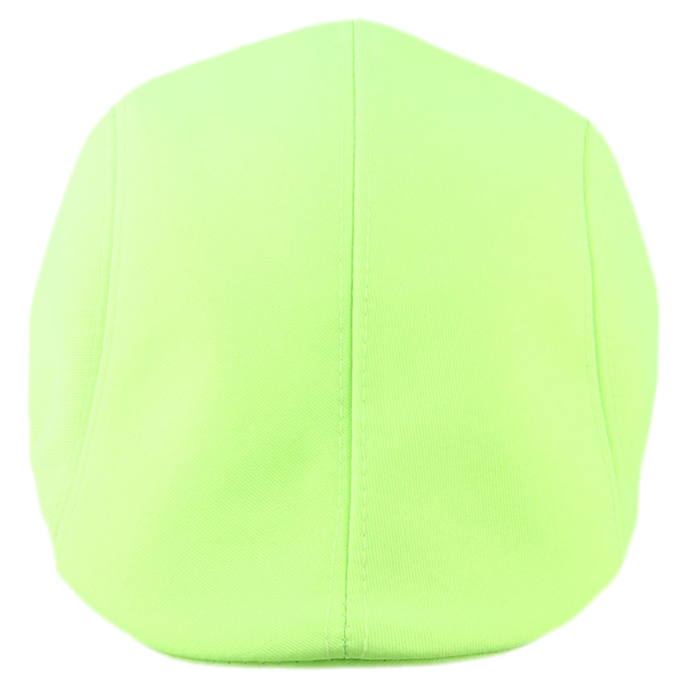 Candy Color Gatsby Cap Ivy Hat Golf Driving Summer Sun Flat Cabbie Newsboy, Fluorescent green