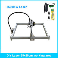 5500mW Desktop DIY Violet Laser Engraving Machine Picture CNC Printer Maximum Engraving Area 35 50CM
