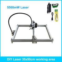 5500mW Desktop DIY Violet Laser Engraving Machine Picture CNC Printer Maximum Engraving Area 35*50CM