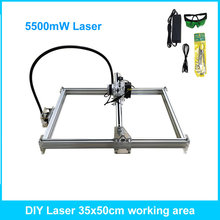 5500mW Desktop DIY Violet Laser Engraving Machine Picture CNC Printer Maximum Engraving Area 35*50CM