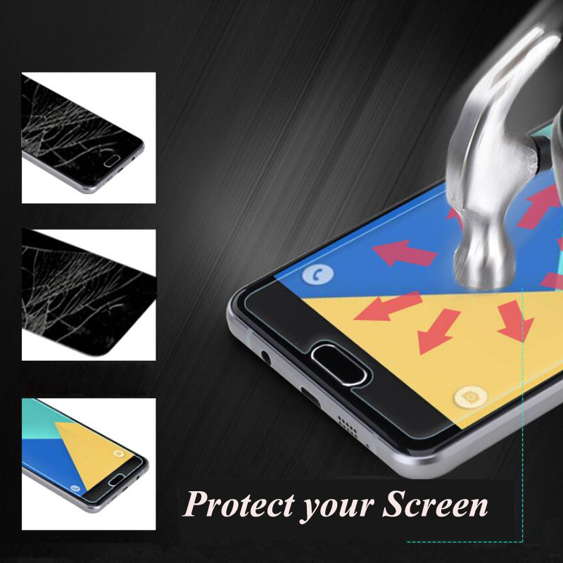 2.5D 9H Tempered Glass For Samsung Galaxy C5 C7 J1 mini J3 J5 J7 A3 A5 A7 S6 2016 Screen Protector Toughened Cover Cases Film