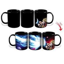Taza de dibujos animados Dragon Ball Z Goku Reactiva Cambiando Taza sensible al Calor De Cerámica Taza Taza Taza Patrón de Goku Regalo de navidad
