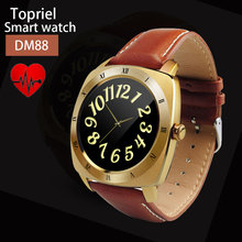2016 dm88 bluetooth smartwatch android montre connecter herzfrequenz schrittzähler runde smart watch für für ios android smartphones