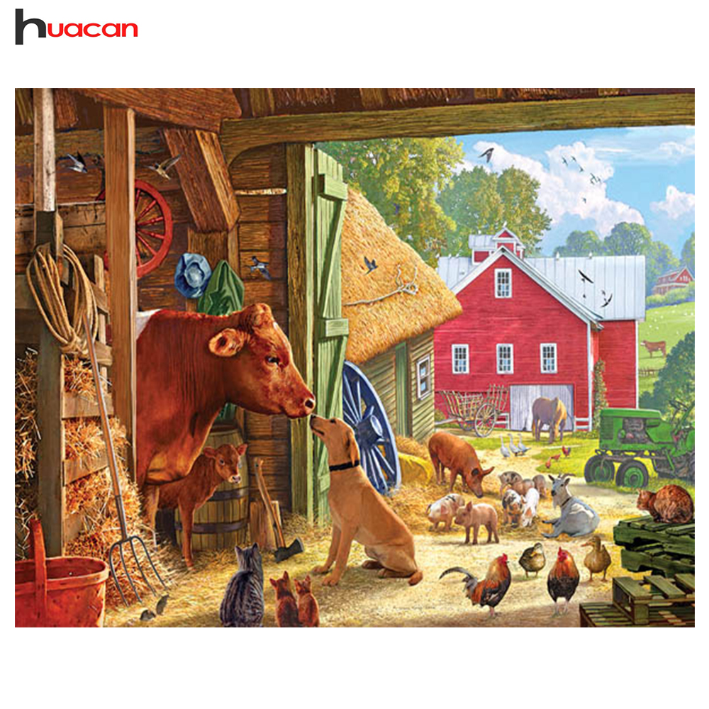 US $4 48 30% OFF|Diamond Painting Picture of Farm Animals Full Square Resin  Drill Diamond Embroidery Home Decor Handmade Crafts DIY Hobby -in Diamond