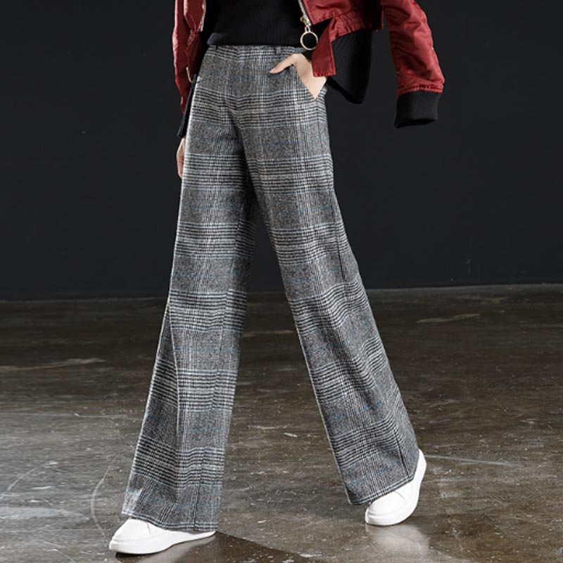 Pants & Capris Flight Tracker Fashion Gold Velvet Wide-leg Pants Elastic High Waist Loose Casual Trousers Autumn And Winter Slim Slim Full Length Pants High Resilience Bottoms