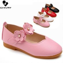 2019 New Summer Children Girls Sandals Soft Leather Flowers Princess Girls Shoes Kids Baby Beach Flat Sandals Shoes
