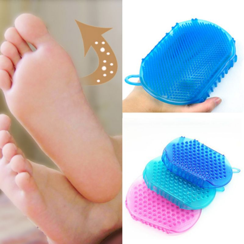 Soft Silicone Massage Scrub Gloves For Peeling Body Bath Brush Exfoliating Gloves Footbrush Bath Body Brush