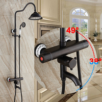 Multiple Types Bathroom Shower Mixer Taps Oil Rubbed Bronze Wall Mounted 8 Rainfall Shower