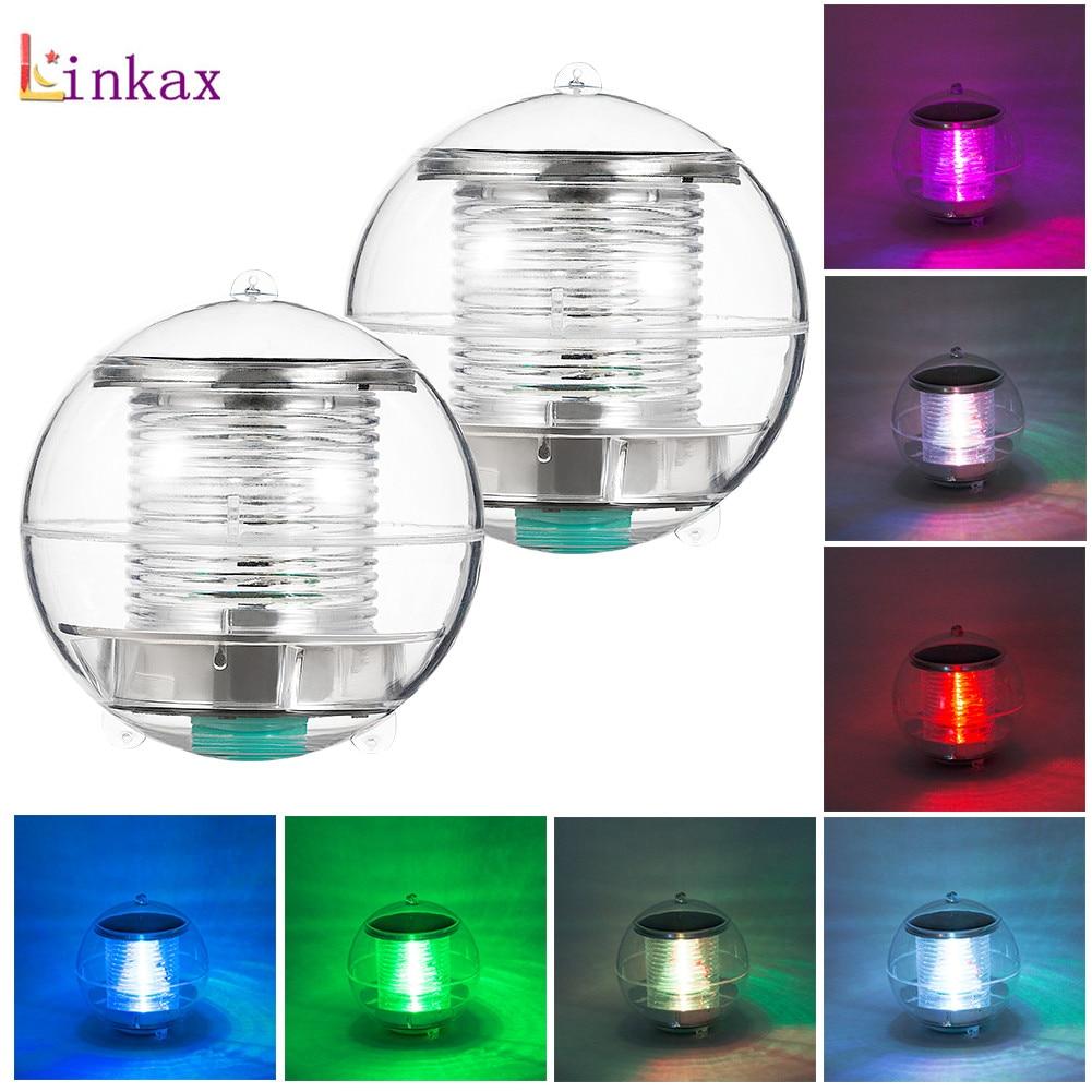 7 Color Solar Powered Lamps Panel Self-Recharging Floating LED Ball For Garden Ponds Lawn Lamps Landscape Yard LED Night Light