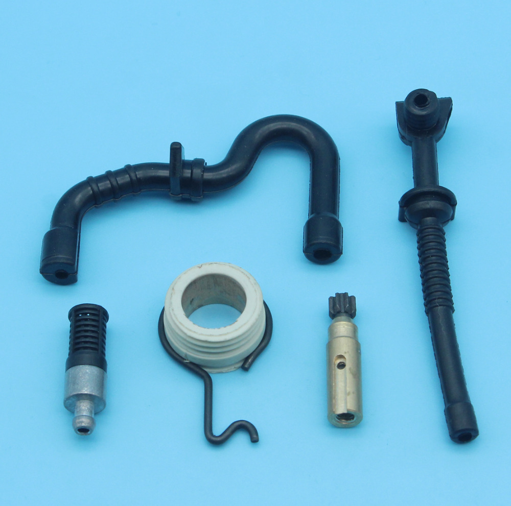 Oil Pump Worm Gear Fuel Oil Line Hose Tube Oil Filter For STIHL 017 018 MS170 MS180 MS 170 180 Chainsaw Repl. 1123 640 3200