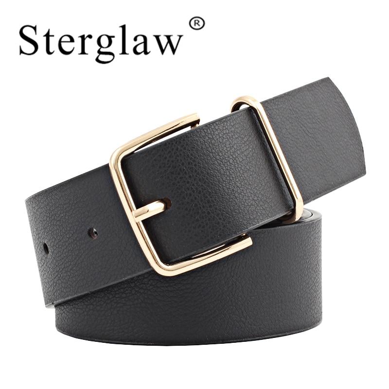 105x3.4cm Leisure Female Metal Pin Buckle Womens Leather Belts Designer Brand Belts Luxury White Belt Wide Waistband Woman N139
