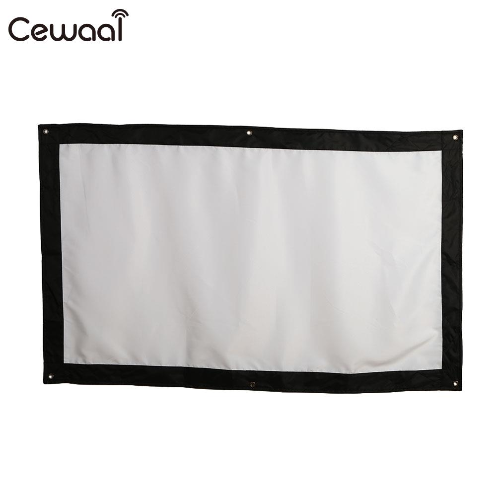 Portable Projection Screen Projector Curtain Foldable 84inch HD Courtyard Indoor Outdoor