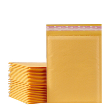 10PCS 7sizes Kraft Paper Bubble Envelopes Bags Padded Mailers Shipping Envelope With Bubble Packaging Bags Courier Storage Bags