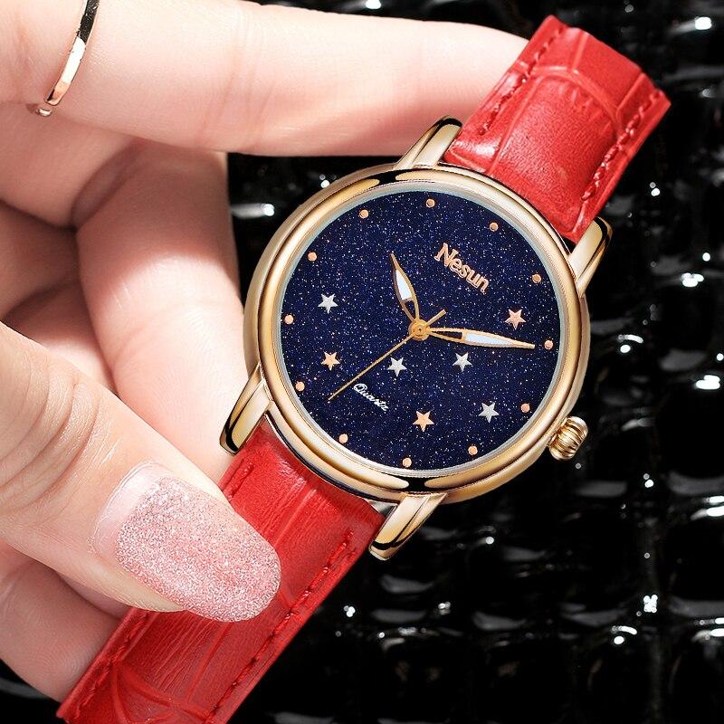Switzerland Luxury Brand Nesun Womens Watches Quartz Watches 2018 Ladies Sapphire Relogio Feminino Clock Wristwatches N7011-2Switzerland Luxury Brand Nesun Womens Watches Quartz Watches 2018 Ladies Sapphire Relogio Feminino Clock Wristwatches N7011-2
