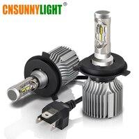 CNSUNNYLIGHT Car LED H4 Headlight Bulb Hi Lo Arc Dual Beam Standard Lighting 60W 8500Lm Pair