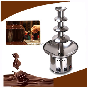 High quality long time stable working 4-Tiers small Chocolate Fountain Household Chocolate Fountain Machine Choco Tree for party