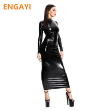 ENGAYI Brand Sexy Summer Faux Leather Latex Women Erotic Dress Sexy Lenceria Babydoll Nuisette Porn Sexy Costumes Dresses A1086