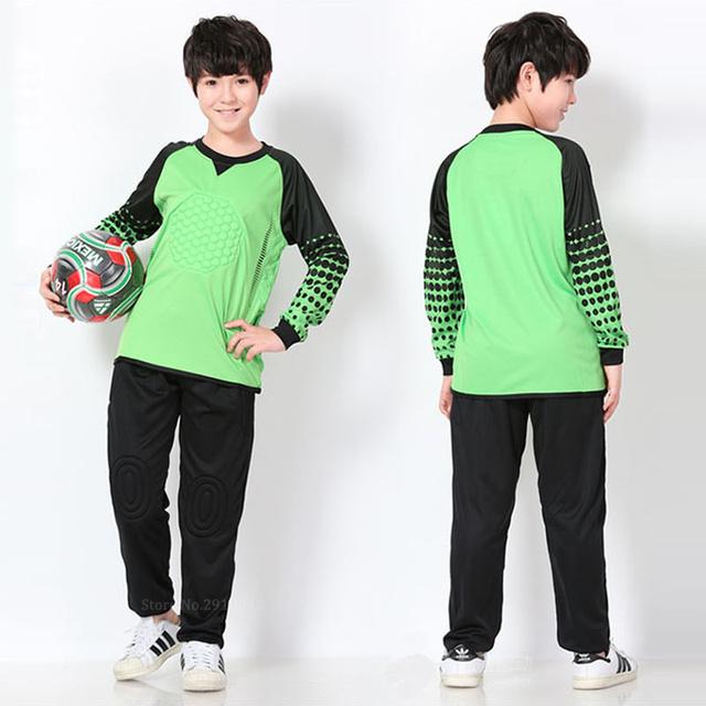 child goalkeeper uniforms Survetement football 2017 soccer jersey kids custom boy football jersey long Sleeve youth football set