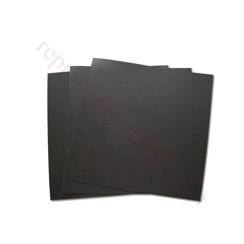 5pcs with 3M Backing 200x200mm black Frosted Heated bed Sticker Build Sheet build plate tape for