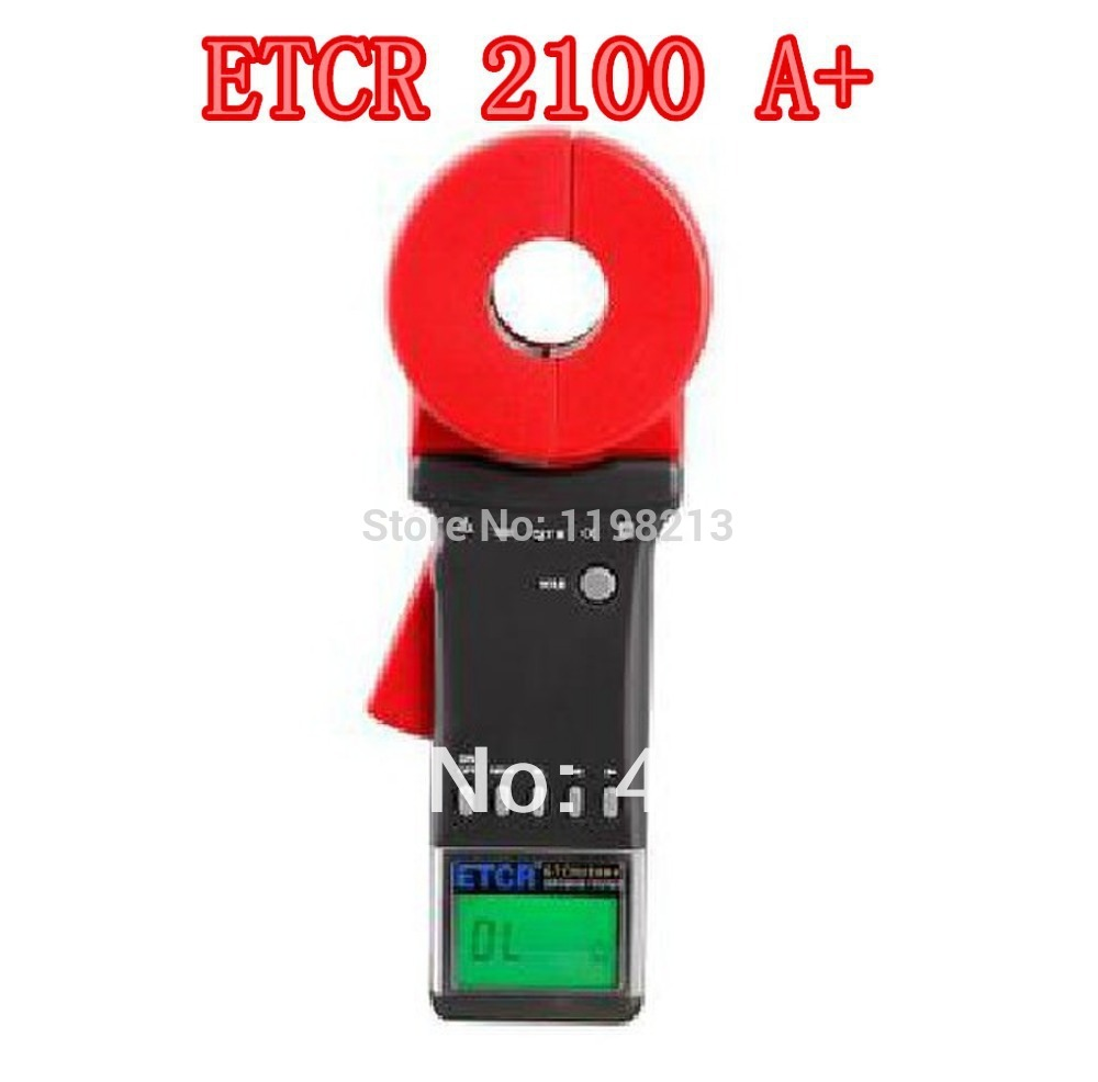 ETCR2100A+ Digital Clamp metre Ground Earth Resistance Meter Tester Clamp Earth Resistance Tester 4 8 days arrival test line clip for lw2678 earth resistance tester earth resistance meter