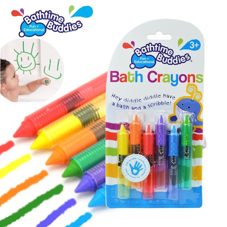 6 шт./лот Новорожденного Малыша Моющиеся Ванна Мелки Bathtime Весело Играть В Обучающие Детские Игрушки