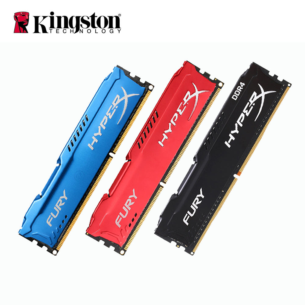 Kingston HyperX FURY 2 GB 4 GB 8 GB 16 GB 32 GB 64 GB memoria RAM DIMM 1866 MHz DDR3 2400 MHz DDR4 1,2 V RAM 1,5 V 240Pin Intel de memoria para escritorio