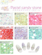 500 pcs 2 mm Pastel Candy berlian imitasi, / Resin berlian imitasi akrilik UV Gel Nail Art(China)