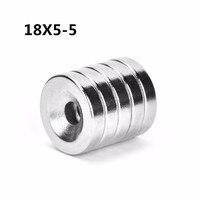 400 шт 18x5 5мм круглое кольцо с потайной головкой Магнит 18 мм x 5 мм отверстие 5 мм Редкоземельные неодимовые магниты 18*5 5