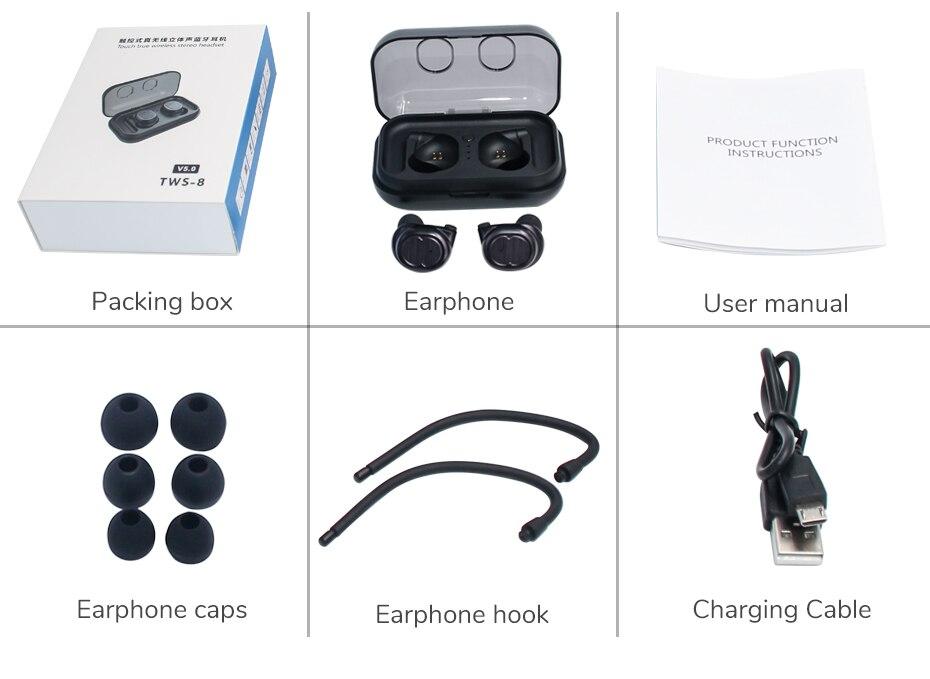 Premium Version TWS8 Wireless Headphone Online | Cornmi