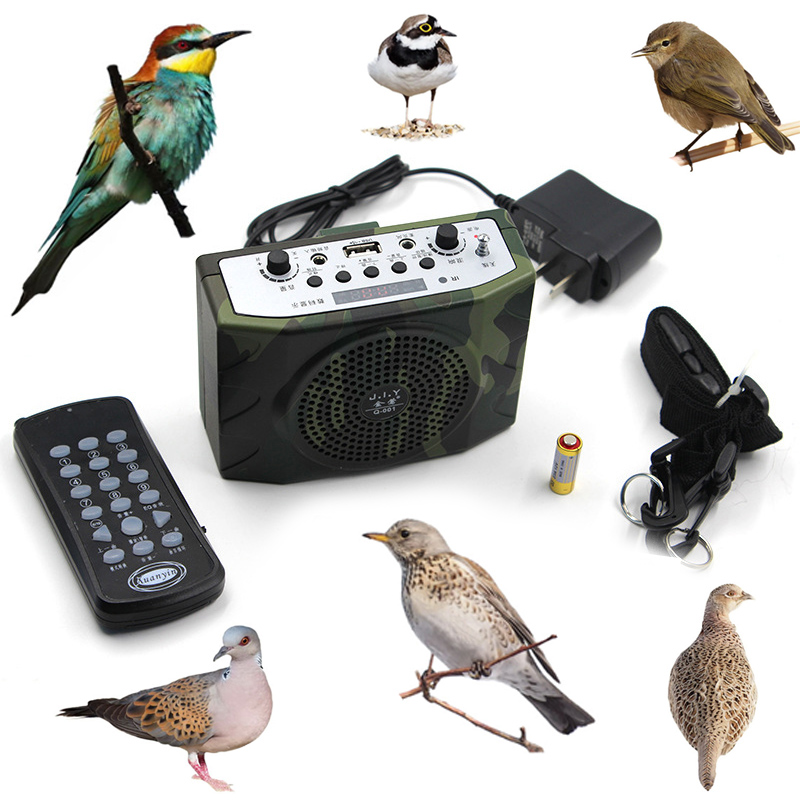 camouflage over 800 Bird sound Outdoor Hunting Decoy Built in Battery hunting accessories Bird caller hunting electronic decoy xilei wholesale hunting decoy electronic bird callers dc 12v 2017 built in 210 bird sounds bird caller hunting decoy speakers wi