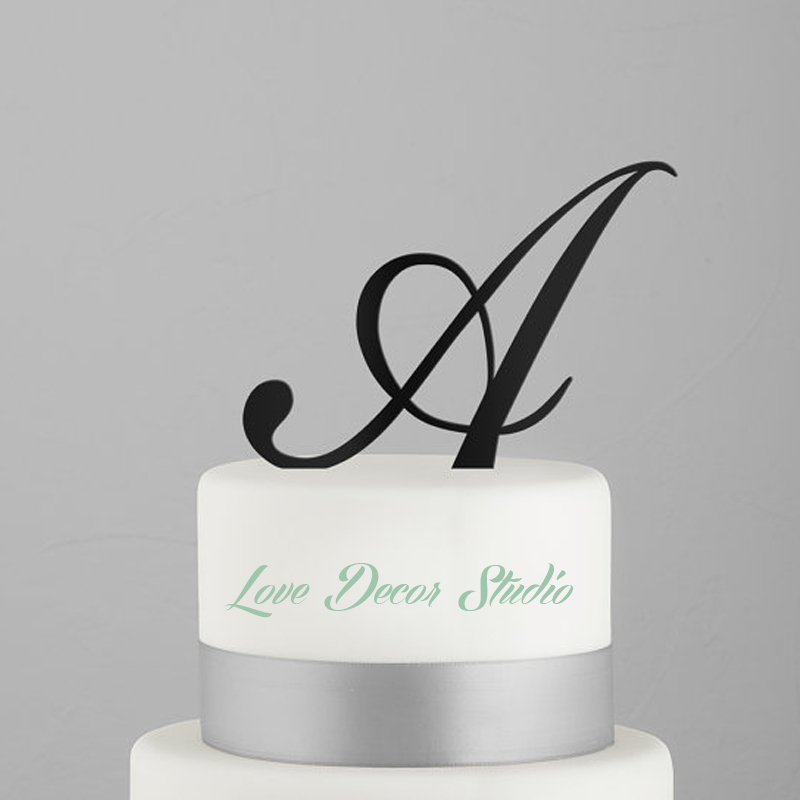 acrylic wedding cake toppers monogram script monogram wedding cake topper topper wedding 10538