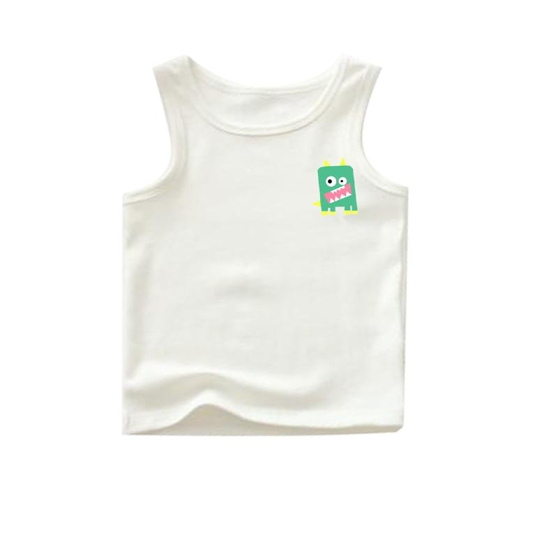 bulk sale mix style size tanks white 100 cotton kids tanks boy tanks shirts cartoon child