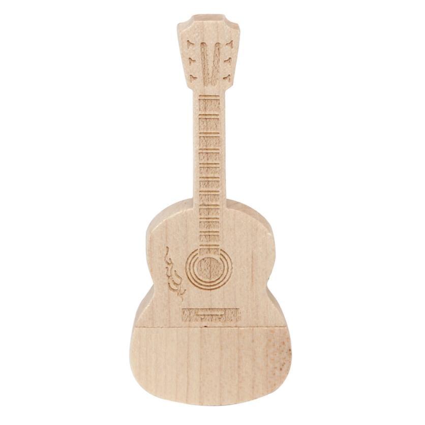 2018 New Hot Selling Sale Wooden USB 3.0 16GB Flash Drive Pen Drives Wood Guitar U Disk dropship 18jan19